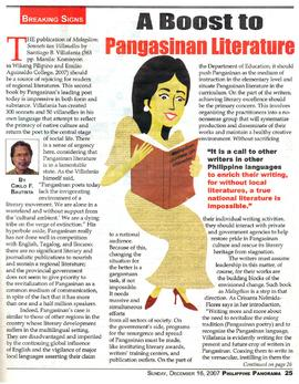 A Boost to Pangasinan Literature